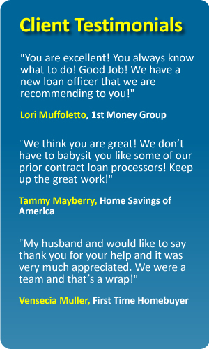 testimonials - Contract Loan Processing